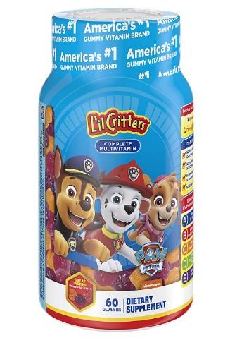 AMAZON: L'il Critters Paw Patrol Complete Multivitamin Gummies, 60 count $4.48 (REG. $7.99)