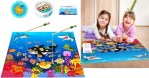 AMAZON: 46pcs Magnetic Fishing Game – Toddler Wooden Magnet Animals & Letters $7.8 ($40)