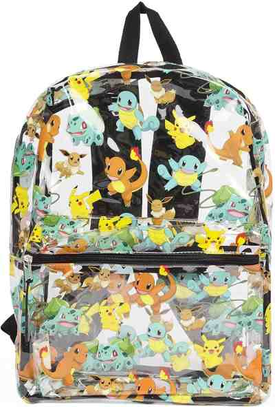 Amazon: Pokemon Allover Print Pikachu Clear Backpack – Clip Coupon!