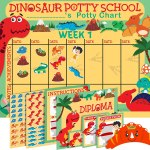 AMAZON: Potty Training Chart for Toddlers Dinosaur Design - Sticker Chart – PRICE DROP!