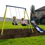 WALMART: Sportspower Power Play Time Metal Swing Set with 5ft Heavy Duty Slide and Two Swings $119.99