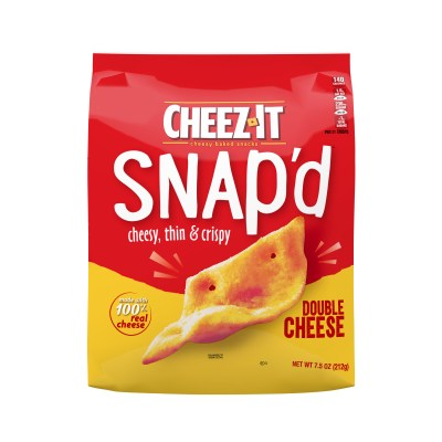 WALMART: Cheez-It Snap'd Double Cheese Baked Cheese Snacks - 7.5 Oz Bag $2.88