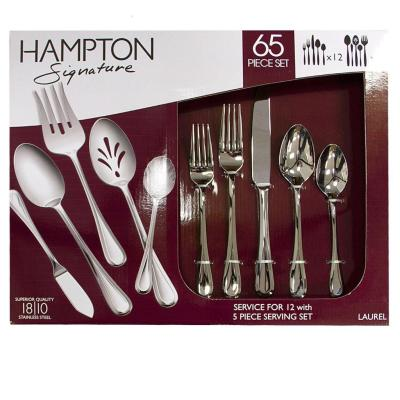 SAM'S CLUB: Hampton Forge Signature 65-Piece Flatware Set For $59.98 + FREE Shipping (Assorted Styles)
