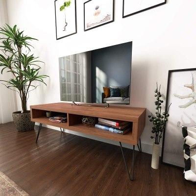 AMAZON: TV Stand, Two Open Storage, Walnut – PRICE DROP!