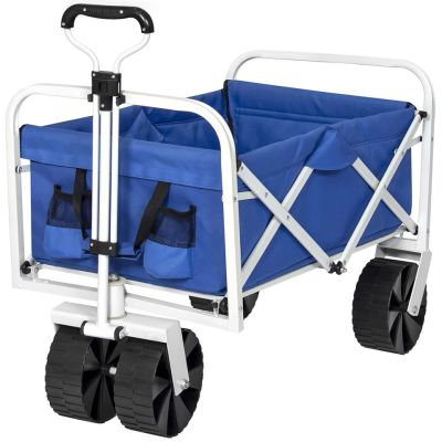 WALMART: Best Choice Products Folding Collapsible Utility Wagon Cart w/ All-Terrain Wheels - Blue $89.99 (Reg $191.99)