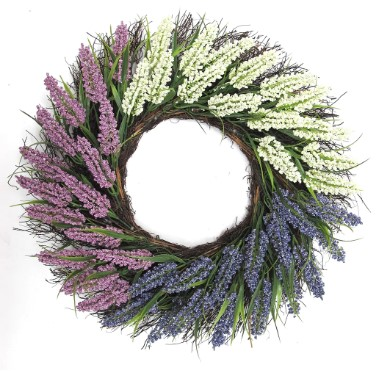 Michaels: 22″ Lavender, Purple & Cream Heather Wreath For $11.99 (Was $40)