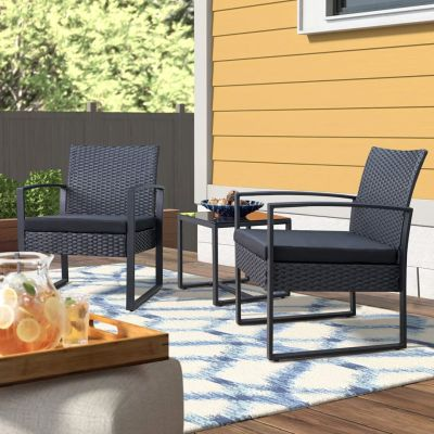 WALMART: Walnew Patio Furniture Cushioned Bistro Chairs Set of 2 w/Table, JUST $109.99 (REG $179.99)