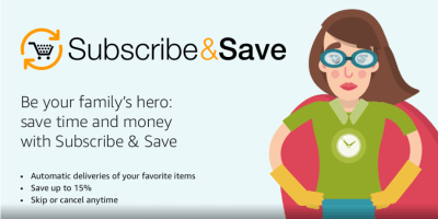 Amazon Subscribe & Save now offers more frequent shipping options every 2 weeks!