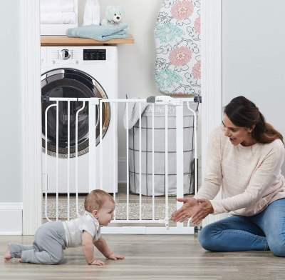 Amazon: 38.5-Inch Extra Wide Walk Thru Baby Gate for $8.55