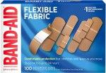 Amazon: Band-Aid Brand Flexible Fabric Adhesive Bandages, Assorted Sizes, 100 ct Now $6.54