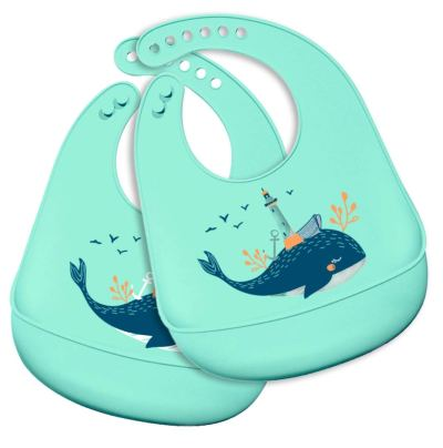 Amazon: 50% OFF on 2 Pack Silicone Baby Bibs