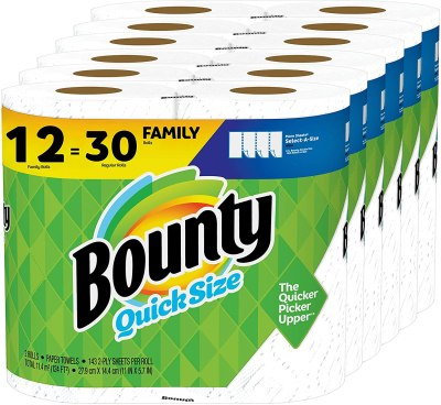 Amazon: Bounty Quick-Size Paper Towels, 30 Rolls for $30.44 Shipped!