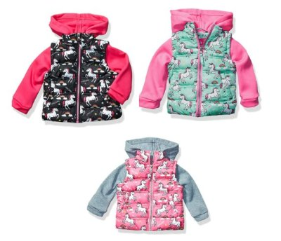 Amazon: Baby Girl Vest with Fleece Hood and Sleeves for $7.66-$8.57 Shipped!