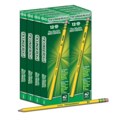 Amazon: Box of 96 Ticonderoga Wood-Cased #2 Pencils Only $10.28 (Reg. $32)