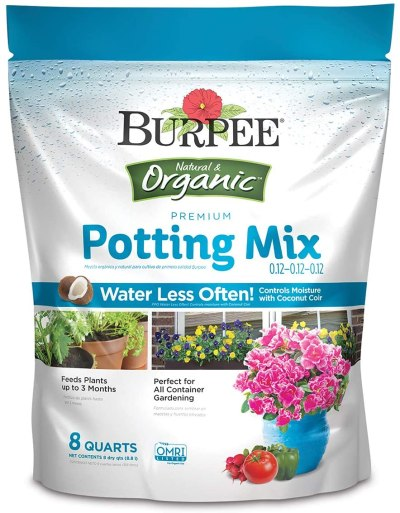 Amazon: Burpee Organic Premium Potting Mix, 8 Quart for $6.99 (Reg.Price $14.65)