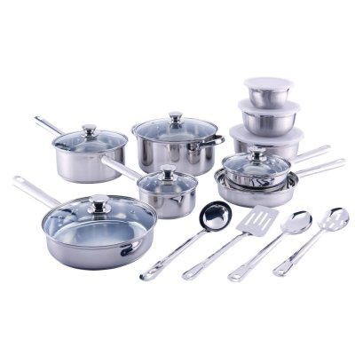 Walmart: 18Pc Cookware Set, Kitchen Tools & Mixing Bowls For $39.97