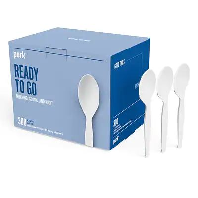Staples: Perk™ Plastic Assorted Cutlery, Medium-Weight, White, 300/Pack $5.99 (Reg $14.69)