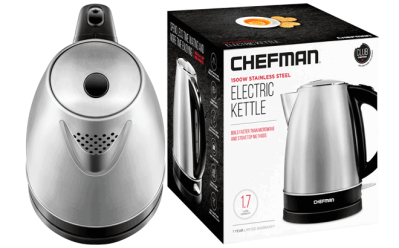 Best Buy: Chefman 1.7-Liter Electric Kettle Just $14.99 (Regularly $30) – Today Only!