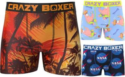 Zulily: Crazy Men's Boxers Starting from ONLY $7.98 (Reg $12) – Many Prints Available!