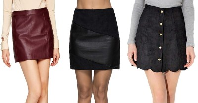 Amazon: Escalier Women's PU Leather Skirt $6.9 ($23)