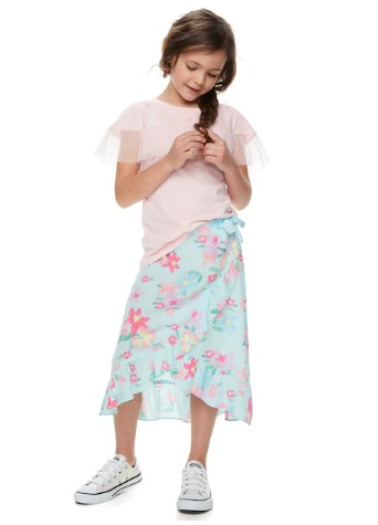 Kohl's: Girls Floral Ruffle Wrap Skirt ONLY $10.24 (Reg $32)