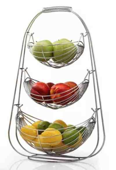 Macy's: HomeIT 3 Tier Stainless Steel Fruit Basket For $36.99 (Reg. $53.00)