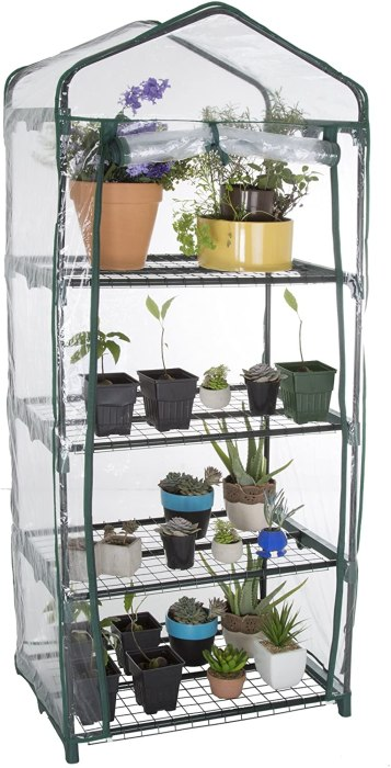 Amazon: 4-Tier Greenhouse with Zippered Cover $29.81 (Reg. $64.99)