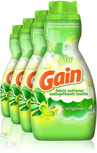 Amazon: Gain Liquid Fabric Softener, Original, 41 fl oz, 4 Count, Save by Clip Coupon, checkout via Sub&Save!