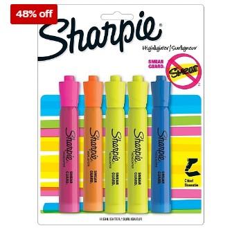 Staples: 5 pack Sharpie Accent Tank Style Highlighter For $2.49 (Reg. $4.81)