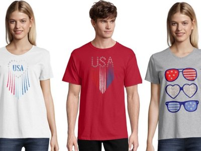 Hanes: Patriotic Graphic Tees, JUST $4.99 (Reg $12) after code!