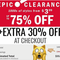 OLD NAVY : CLEARANCE EVENT UP TO 75% OFF + an EXTRA 30% OFF at checkout 1000s of styles from $3.99!