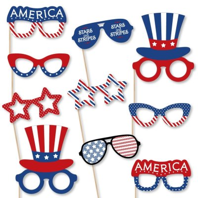 Walmart: Patriotic Glasses – Party Photo Props Kit – 10 For $12.99