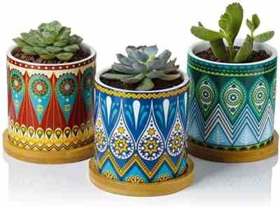 Amazon: Set of 3 Mandala Planters – Save after Coupon & Code!