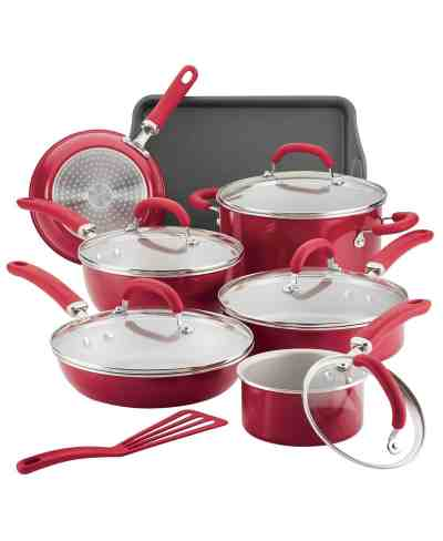 Macy's: Rachael Ray Aluminum Nonstick 13-Pc. Cookware Set For 139.99 (Reg. $239.99)