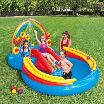 Walmart: Intex Rainbow Ring Inflatable Play Center With Sprayer $77.99 (WAS $179.99)