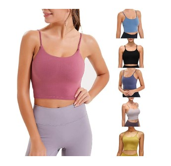 Amazon: Women Padded Sports Bra, Yoga Tank Top $6.99 ($23.3)