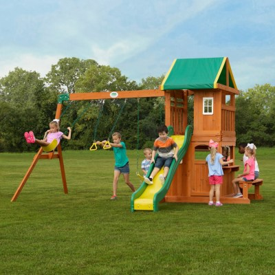 Walmart: Backyard Discovery Oakmont Cedar Wooden Swing Set $499 (Was $574) + FREE Shipping