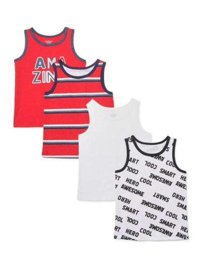 Walmart: Garanimals Toddler Boy Graphic & Stripe Tank Tops, 4pk, 12M For $11.52