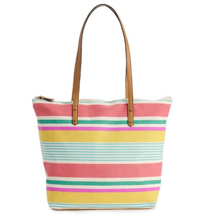 Kohl's: SONOMA Goods for Life® Striped Canvas Tote $9.00 (Reg. $30.00)