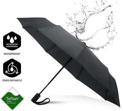Amazon: FLOVA Auto Open/Close Windproof Umbrella, Waterproof $7.99 ($18)