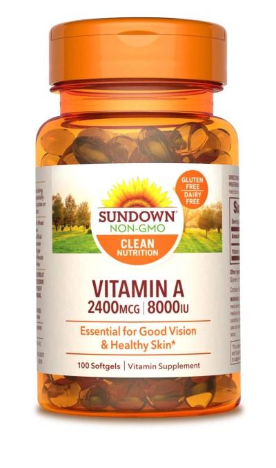 Walmart: Sundown Naturals® A 8000 IU, 100 Softgels For $4.35 (Was $6.21)