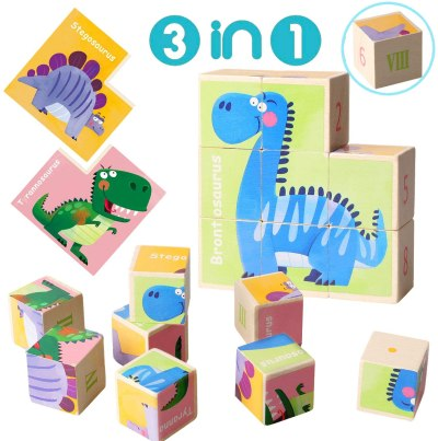 Amazon: Wooden Block Puzzle Number Sorting Dinosaur Cube Puzzle, Just $6.99 (Reg $13.99) after code!