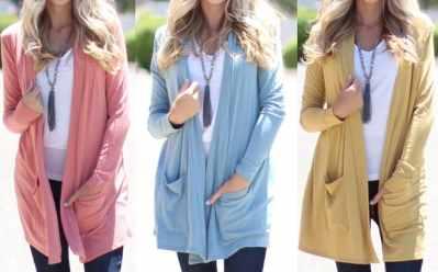 Jane: Lightweight Long Sleeve Cardigans for $9.99 (Regularly $30)