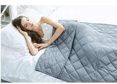 Amazon: 20lbs Weighted Blanket for $40.50 (Reg. Price $89.99)