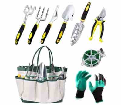 Amazon: 9 PCS Set for Digging Planting with Storage Organizer Tote for $14.00 (Reg. Price $34.99)