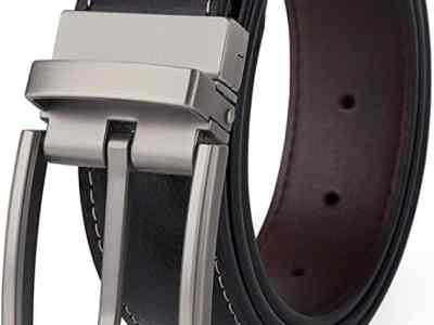 """Amazon: Reversible Belt Black width 1.25"""" Rotated Buckle For $5.60 - $5.99"""