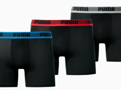Puma: Men's Training Boxer Briefs 3-Pack ONLY $8.99 (Reg $30)