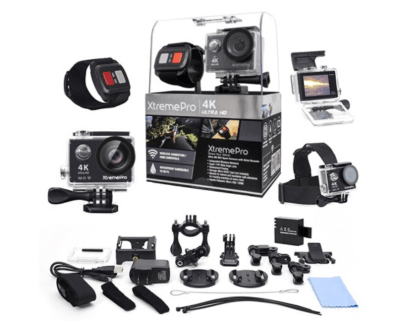 Woot: XtremePro 4K Wifi Ultra HD Sport Camera w Wireless Wrist Remote & 20 Accessories $47.99 (Reg $349.99)
