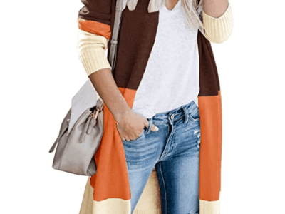 Amazon: Save 50% on Ferbia Women Color Block Cardigan