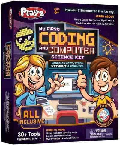Amazon: Playz Coding & Computer Science Kit – Clip Coupon!